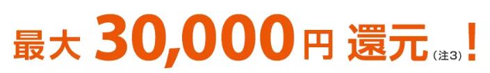 auひかりスタートサポートで最大30,000円還元
